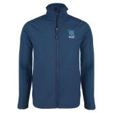 Navy Softshell Jacket-Stacked Shield/Phi Delta Theta Symbols