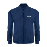 Navy Players Jacket-Phi Delta Theta Symbols