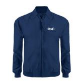 Navy Players Jacket-Phi Delta Theta Symbols