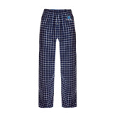 Navy/White Flannel Pajama Pant-Stacked Shield/Phi Delta Theta