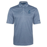 Nike Golf Dri Fit Navy Heather Polo-Stacked Shield/Phi Delta Theta Symbols