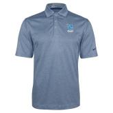 Nike Golf Dri Fit Navy Heather Polo-Stacked Shield/Phi Delta Theta Symbols