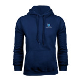 Navy Fleece Hoodie-Stacked Shield/Phi Delta Theta