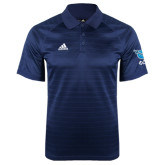 Adidas Climalite Navy Jaquard Select Polo-Stacked Shield/Phi Delta Theta Symbols