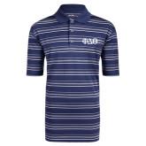 Adidas Climalite Navy Textured Stripe Polo-Phi Delta Theta Symbols