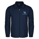 Full Zip Navy Wind Jacket-Stacked Shield/Phi Delta Theta