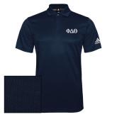 Adidas Climalite Navy Grind Polo-Phi Delta Theta Symbols