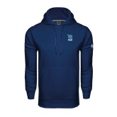 Under Armour Navy Performance Sweats Team Hoodie-Stacked Shield/Phi Delta Theta Symbols