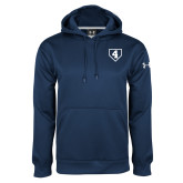 Under Armour Navy Performance Sweats Team Hoodie-LLL Base