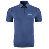 Indigo Blue Horizontal Textured Polo-Stacked Shield/Phi Delta Theta