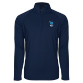 Sport Wick Stretch Navy 1/2 Zip Pullover-Stacked Shield/Phi Delta Theta Symbols