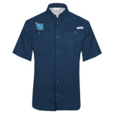 Columbia Tamiami Performance Navy Short Sleeve Shirt-Shield