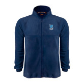 Fleece Full Zip Navy Jacket-Stacked Shield/Phi Delta Theta Symbols