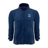 Fleece Full Zip Navy Jacket-Stacked Shield/Phi Delta Theta Symbols