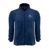 Fleece Full Zip Navy Jacket-Stacked Shield/Phi Delta Theta