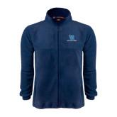 Fleece Full Zip Navy Jacket-Stacked Shield/Phi Delta Theta