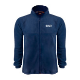 Fleece Full Zip Navy Jacket-Phi Delta Theta Symbols