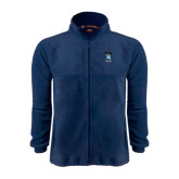 Fleece Full Zip Navy Jacket-Coat of Arms
