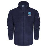 Columbia Full Zip Navy Fleece Jacket-Stacked Shield/Phi Delta Theta Symbols