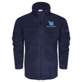 Columbia Full Zip Navy Fleece Jacket-Stacked Shield/Phi Delta Theta