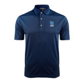 Navy Dry Mesh Polo-Stacked Shield/Phi Delta Theta Symbols