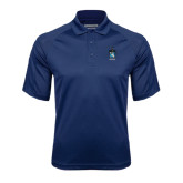 Navy Textured Saddle Shoulder Polo-Coat of Arms