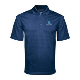 Navy Mini Stripe Polo-Stacked Shield/Phi Delta Theta