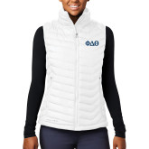 Columbia Mighty LITE Ladies White Vest-Phi Delta Theta Symbols