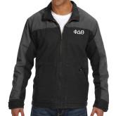 DRI DUCK Horizon Charcoal/Black Canvas Jacket-Phi Delta Theta Symbols
