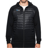 Columbia Northern Comfort Black Hoodie-Shield/Phi Delta Theta Symbols