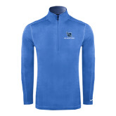 Nike Sphere Dry 1/4 Zip Light Blue Cover Up-Stacked Shield/Phi Delta Theta