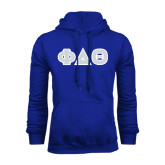 Royal Fleece Hoodie-Greek Letters in Tackle Twill