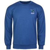 Royal Fleece Crew-Stacked Shield/Phi Delta Theta Symbols