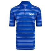 Adidas Climalite Royal Textured Stripe Polo-Phi Delta Theta Symbols