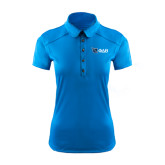 Ladies Ogio Sapphire Blue Pleated Back Polo-Shield/Phi Delta Theta Symbols