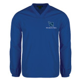 V Neck Royal Raglan Windshirt-Stacked Shield/Phi Delta Theta