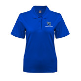 Ladies Easycare Royal Pique Polo-Stacked Shield/Phi Delta Theta