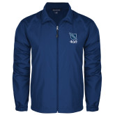 Full Zip Royal Wind Jacket-Stacked Shield/Phi Delta Theta Symbols