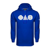 Under Armour Royal Performance Sweats Team Hoodie-Greek Letters in Tackle Twill