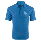 Sapphire Blue Horizontal Textured Polo-Shield