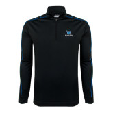 Nike Golf Dri Fit 1/2 Zip Black/Royal Cover Up-Stacked Shield/Phi Delta Theta