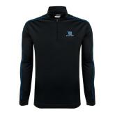 Nike Golf Dri Fit 1/2 Zip Black/Royal Cover Up-Stacked Shield/Phi Delta Theta