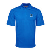 Royal Mini Stripe Polo-Stacked Shield/Phi Delta Theta Symbols