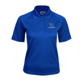 Ladies Royal Textured Saddle Shoulder Polo-Stacked Shield/Phi Delta Theta