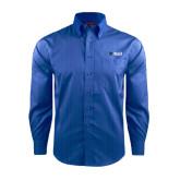 Red House French Blue Dobby Long Sleeve Shirt-Shield/Phi Delta Theta Symbols