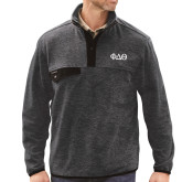 DRI DUCK Denali Charcoal Fleece Pullover-Phi Delta Theta Symbols