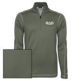 Nike Sphere Dry 1/4 Zip Olive Khaki Pullover-Phi Delta Theta Symbols