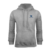 Grey Fleece Hoodie-Stacked Shield/Phi Delta Theta