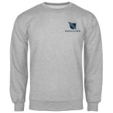 Grey Fleece Crew-Stacked Shield/Phi Delta Theta