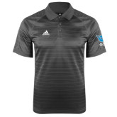 Adidas Climalite Charcoal Jaquard Select Polo-Stacked Shield/Phi Delta Theta Symbols, LEFT SLEEVE